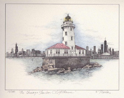 Chicago Harbor Lighthouse (The Crib)